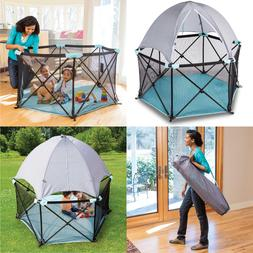 Canopy In/Outdoor Portable Playard Kid Shade Deluxe Ultimate