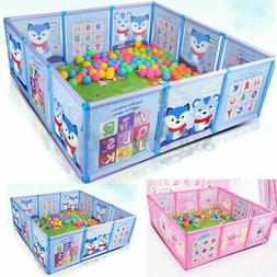Cartoon Kids Play Pen Fence Playpen Baby Safety Pool Game To
