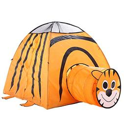 ♛Euone Castle Play Tent ♛Clearance♛, Cartoon Tiger Fol