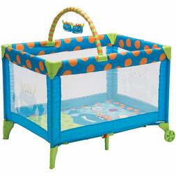 Cosco Funsport Deluxe Play Yard, Play Pen, Colorful Hanging