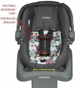 Cosco Light N' Comfy DX Baby Car Seat Harness Chest Clip & B