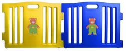 Baby Diego Cubzone Playard Panel Extension Set, Blue and Yel
