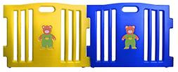 Baby Diego Cubzone Playard Panel Extension Set Blue and Yell
