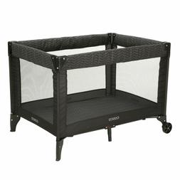 Cosco Deluxe Funsport Portable Compact Play Yard, Black Arro
