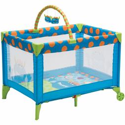 Cosco Deluxe Funsport Portable Compact Play Yard, Monster Sy