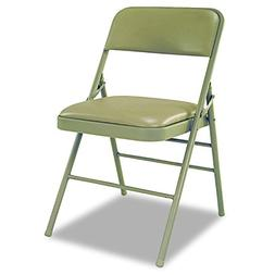 Deluxe Vinyl Padded Seat & Back Folding Chairs  Taupe  4/Car