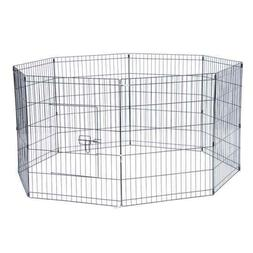 Durable Tall Wire Fence Pet Dog Cat Folding Exercise Yard Me