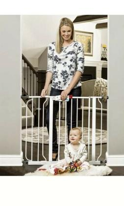 Regalo Easy Step Walk Thru Gate White Fits Spaces Between 29