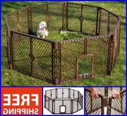 Extra Large Dog Cat Pet Playpen Indoor Outdoor Exercise Play