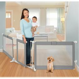 Baby Safety Gate Play Yard Extra Wide Door Way Large Opening