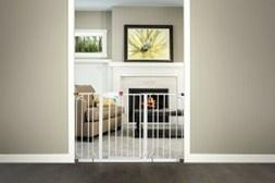 Regalo Extra-Wide Walk-Through Baby Safety Gate: Platinum