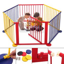 Fence Portable Pet Outdoors 6 Panel Play Pen Safety Gate Chi