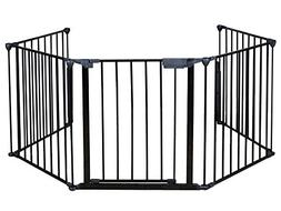Costzon Fireplace Fence Baby Safety Fence Hearth Gate BBQ Me