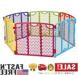 Foldable Baby Play Yard Gate Nursery Toddler Playpen Fence F