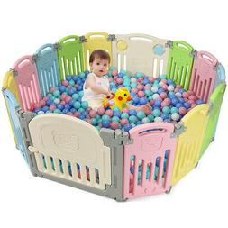 Foldable Baby Playpen 14 Panel Activity Center Safety Play Y