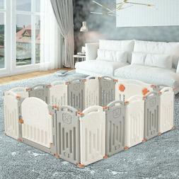 Foldable Baby Playpen 16 Panel Activity Center Self Play Yar
