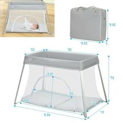 Foldable Baby Playpen Travel Portable Crib Bassinet Play Yar