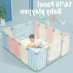 Folding Baby Playpen Kids Activity Centre Safety Play Yard H