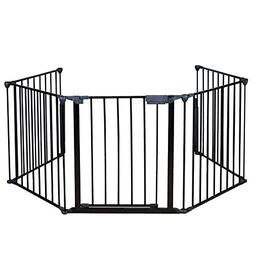 Baby Gate Fireplace Safety Fence BBQ Pet Metal Fire Gate Bab