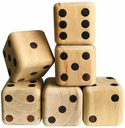 Giant Quality Pine Wood Playing Dice Outdoor Yard Parties Ca
