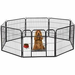 Hammertone Finish 32&quot Heavy Duty Pet Playpen Dog Exercis