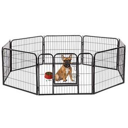 "BestPet Hammertone Finish 24"" Heavy Duty Pet Playpen Dog Exe"