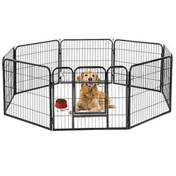 "BestPet Black 32"" Heavy Duty Pet Playpen Dog Exercise Pen Ca"