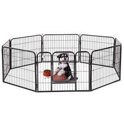 BestPet Black 24 Heavy Duty Pet Playpen Dog Exercise Pen Cat