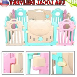 Infant Kids Safety Fence Tent Indoor Baby Playpen Game Playi