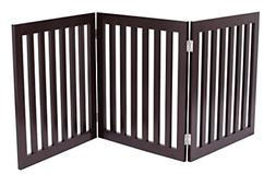 Internet's Best Traditional Pet Gate - 3 Panel - 24 Inch Ste