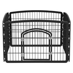 IRIS 24'' Exercise 4 Panel Pet Playpen Play Yard Cage Kennel