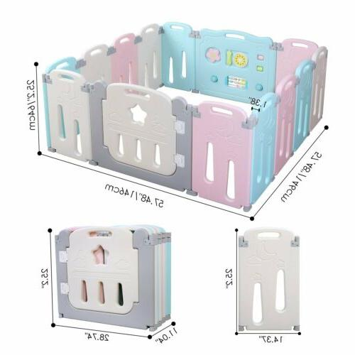 14 Panel Playpen Kids Activity Safety Play Shape