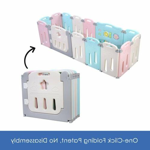 14 panel baby playpen kids activity center
