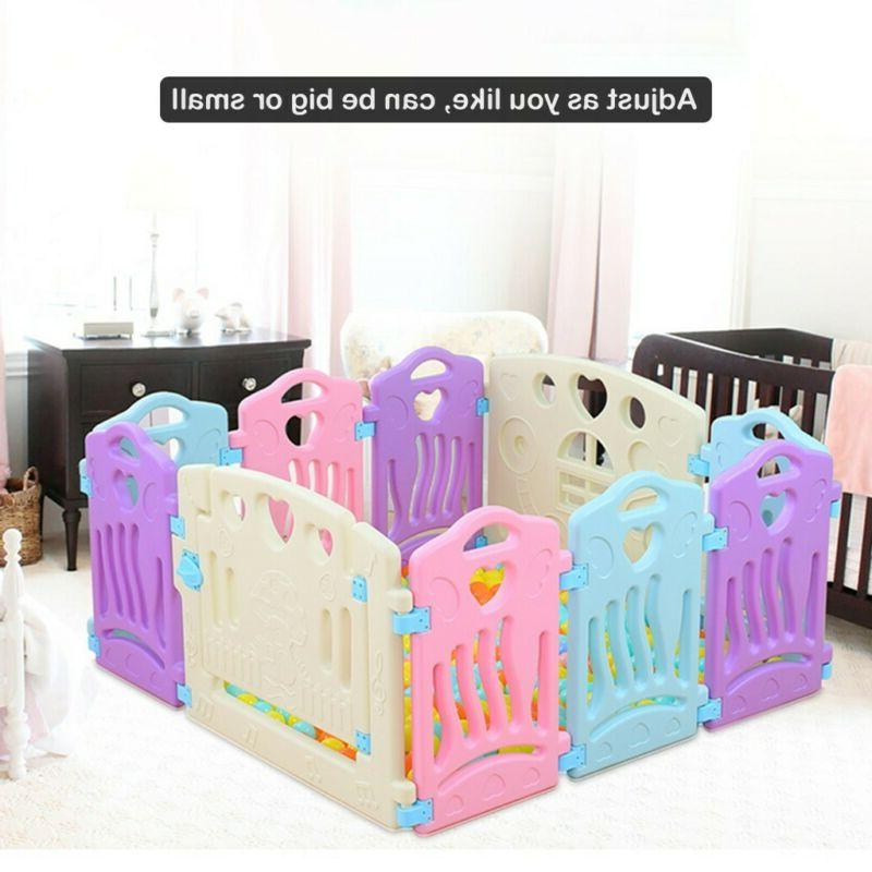 14 Panel Play Playpen Fence