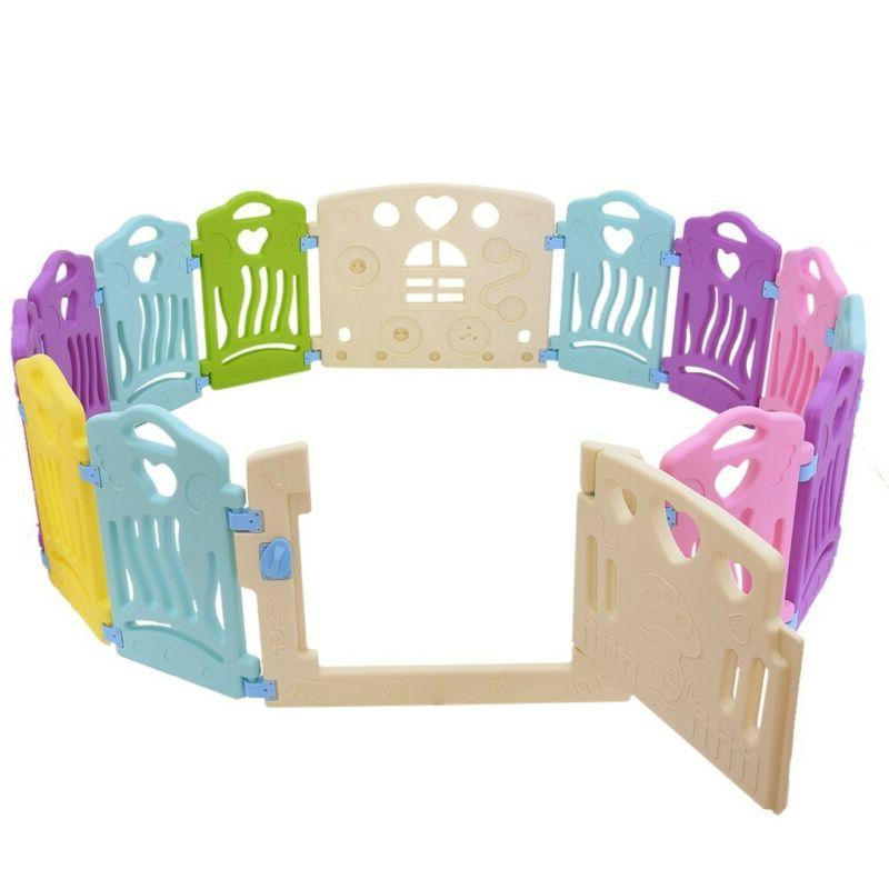 14 Panel Kids Activity Play Flexible Shape