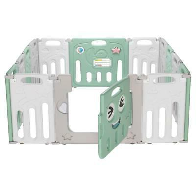 14 Panel Playpen Kids Safety Fence Play Center Yard Play