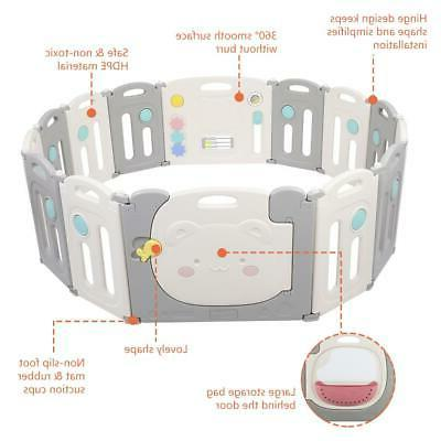 14 Foldable Playpen Thicken Play Fence