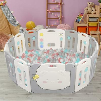 14 Panel Foldable Playpen Thicken Kids Play Fence