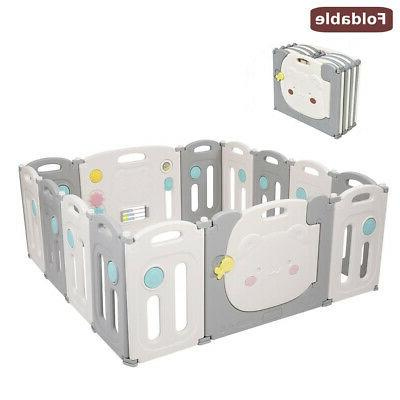 14 panel foldable baby playpen thicken kids
