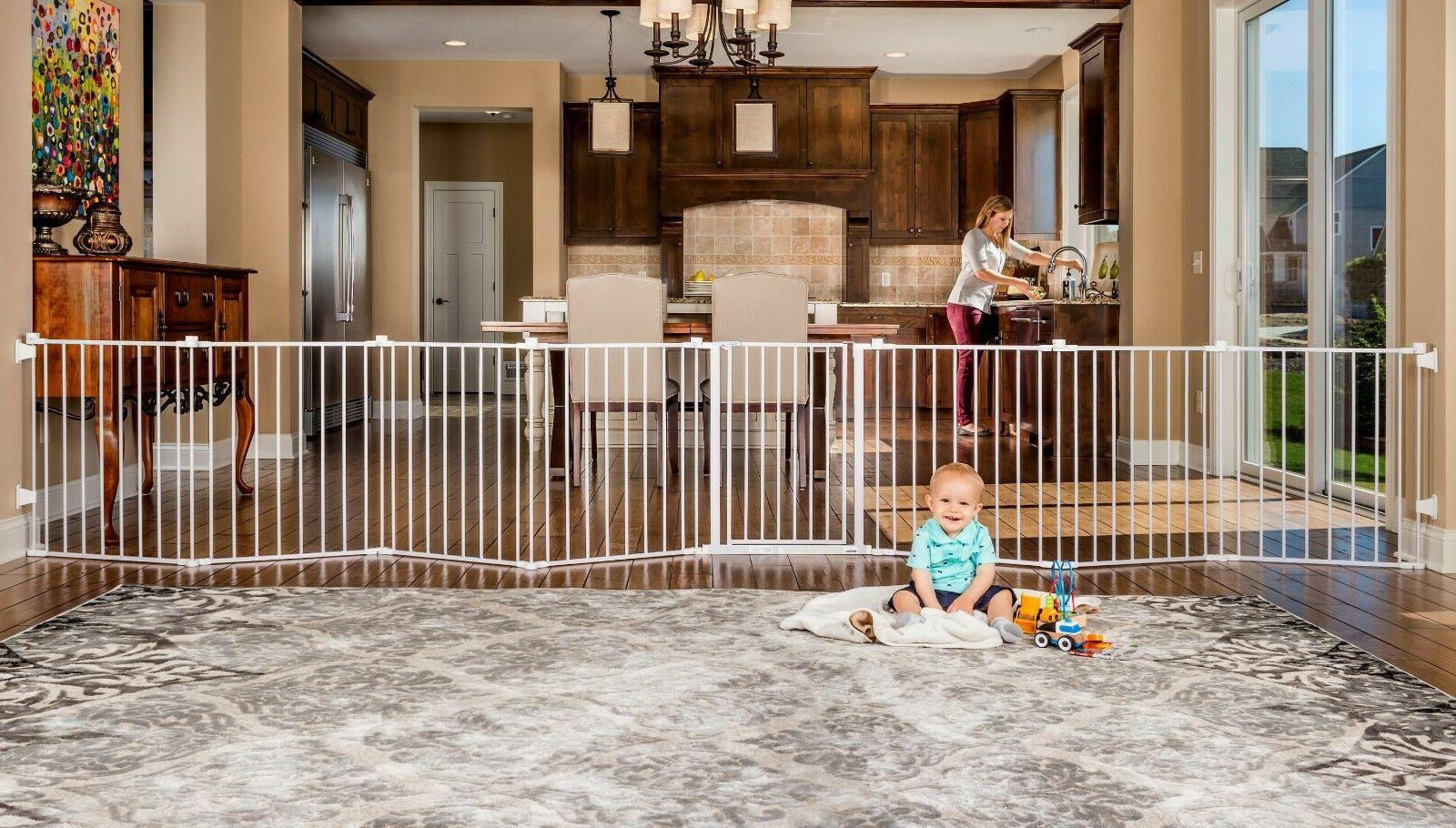 Regalo 192 Inch Super Wide Baby Gate and Play Yard Wall Moun