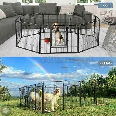 """2X 8 Panel Duty Pet Exercise Kennel Playyard 24"""""""