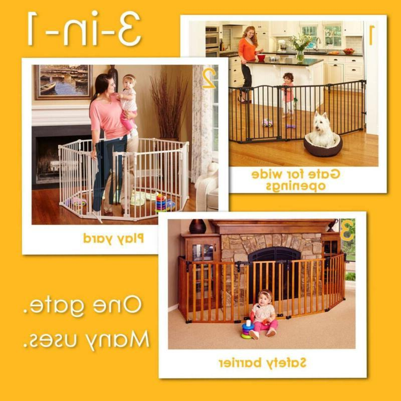 "North States 3-in-1 Eight Panel Superyard - 198"" Long Play Yard: Hardware"