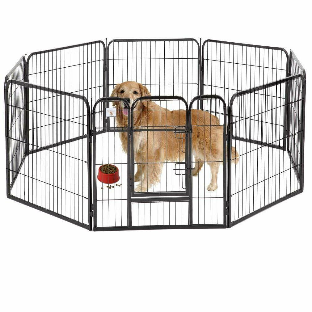 40 8 panel heavy duty pet playpen