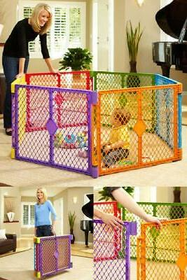6 Panel Yard Playpen Fence Gate Indoor Corral Para