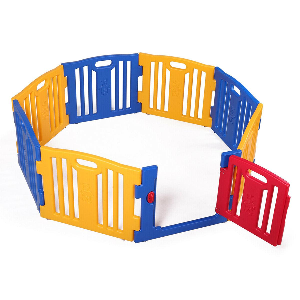 8 Play Yards Kids Playpen Activity Center Home