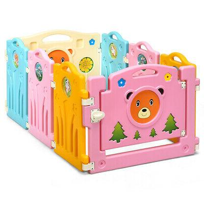 8 Panel Kids Playpen Baby Activity Center Safety Play Yard P