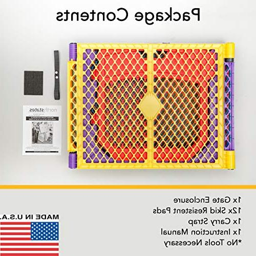 """North States 192"""" Colorplay Ultimate 6-Panel Yard: Safe play anywhere Folds up with easy travel. Freestanding. 18.5 sq."""