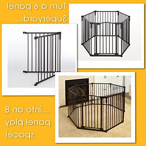 """North 2-Panel for 3-in-1 Metal to 48"""" extra-wide play yard"""
