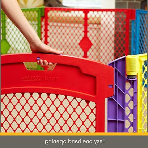 North States Colorplay Yard: Safe anywhere Folds up with easy travel. sq. ft.