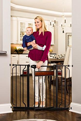 Regalo 43-Inch Extra Wide Walk Thru Baby Includes Hardwood, 6-Inch Extension 4-Inch Extension Pack Pressure Kit of Mount
